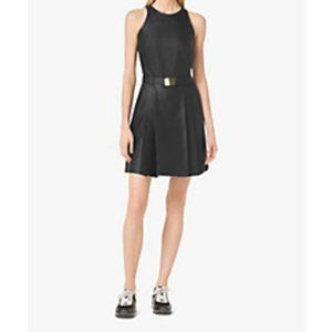 Michael Kors Perforated Belted Dress